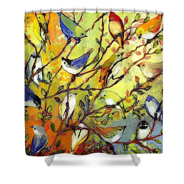 16 Birds Shower Curtain