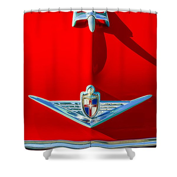 1954 Lincoln Capri Hood Ornament Shower Curtain