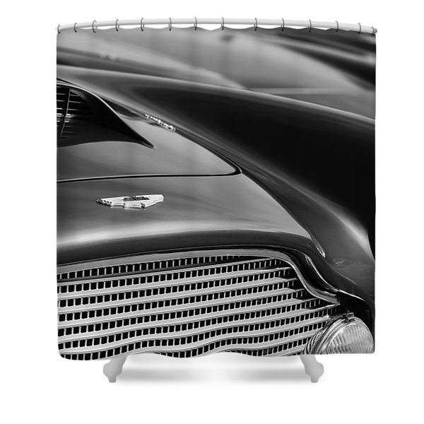 1960 Aston Martin Db4 Series II Grille - Hood Emblem Shower Curtain