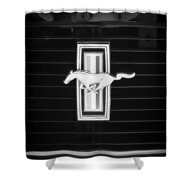 1972 Ford Mustang Boss 302 Grille Emblem Shower Curtain