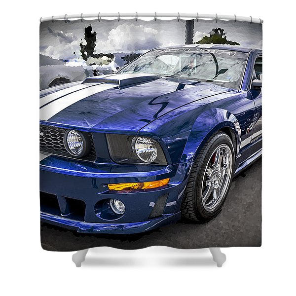2008 Ford Shelby Mustang With The Roush Stage 2 Package Shower Curtain