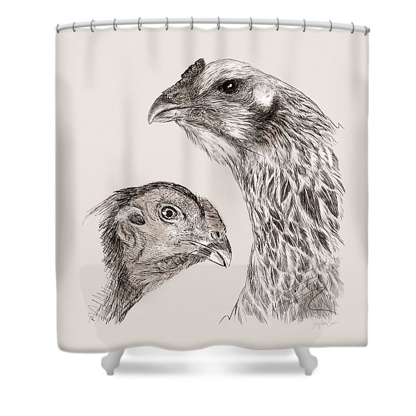 51. Game Hens Shower Curtain