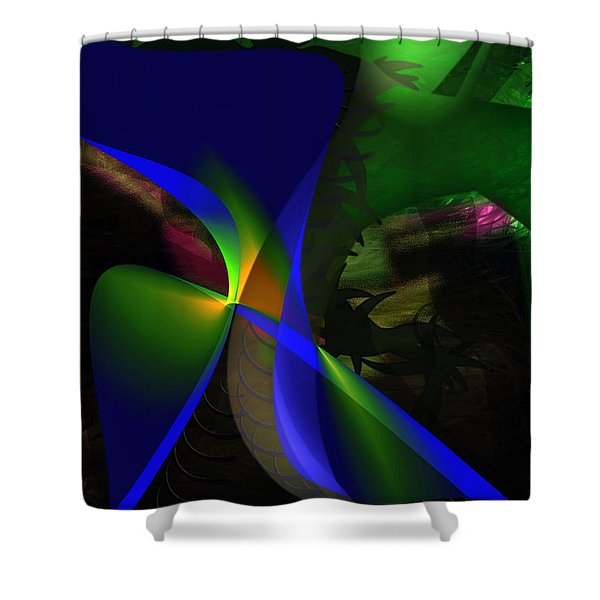 Shower Curtain featuring the painting A Dream by Gerlinde Keating - Galleria GK Keating Associates Inc