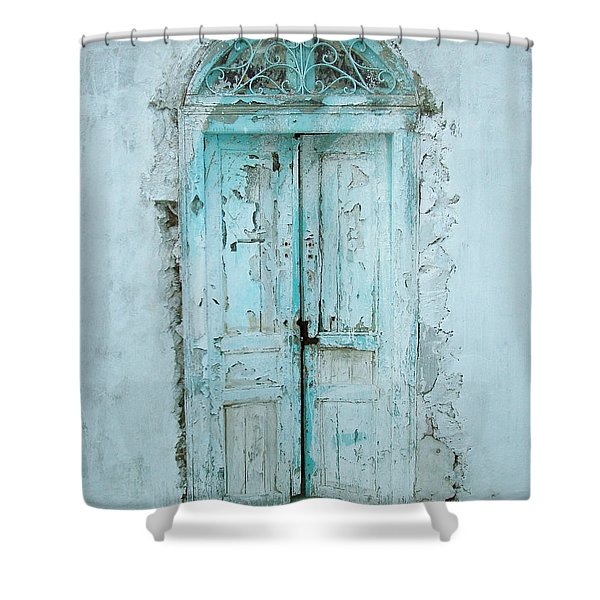 Abandoned Doorway Shower Curtain