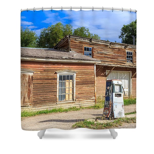 Abandoned Mining Buildings Shower Curtain
