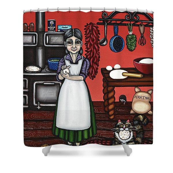Abuelita Or Grandma Shower Curtain