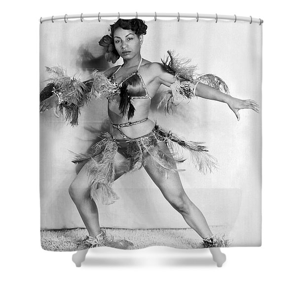African American Woman Dancer Shower Curtain