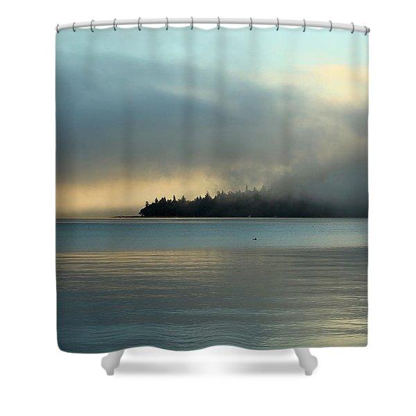An Island In Fog Shower Curtain