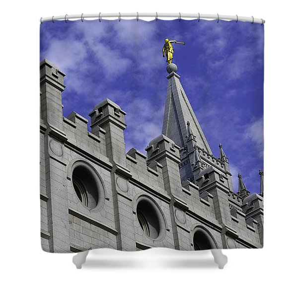 Angel On The Temple Shower Curtain