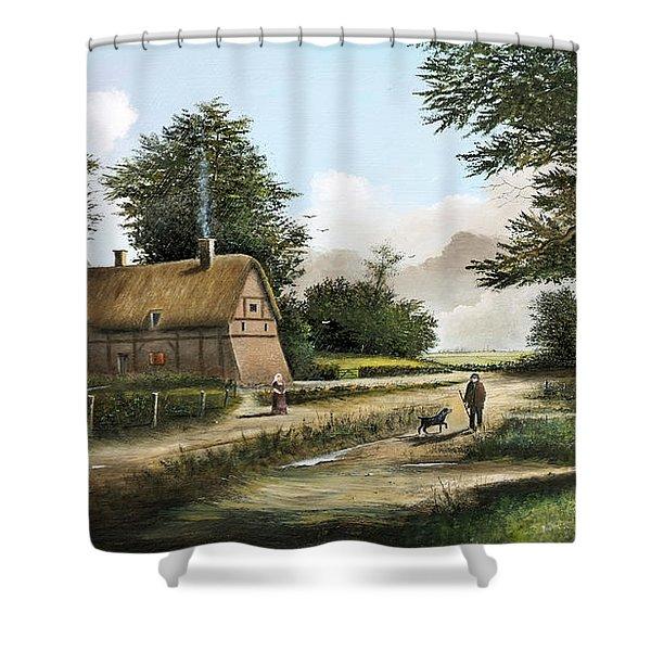 Anne Hathaway's Cottage Shower Curtain