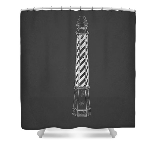Antique Patent For Barber's Pole 1924 Shower Curtain