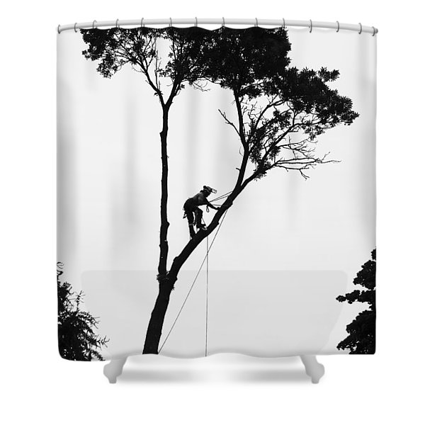 Arborist At Work Shower Curtain