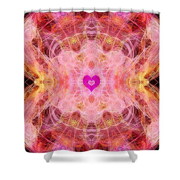 Archangel Chamuel Shower Curtain