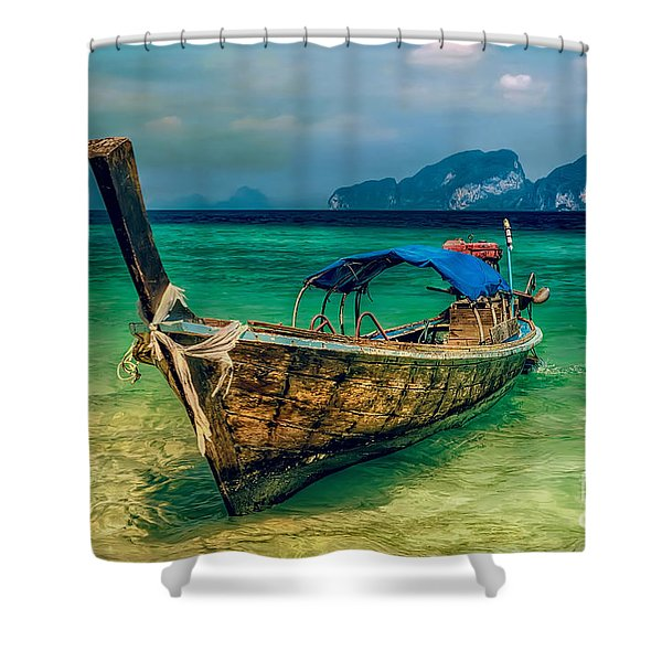 Asian Longboat Shower Curtain