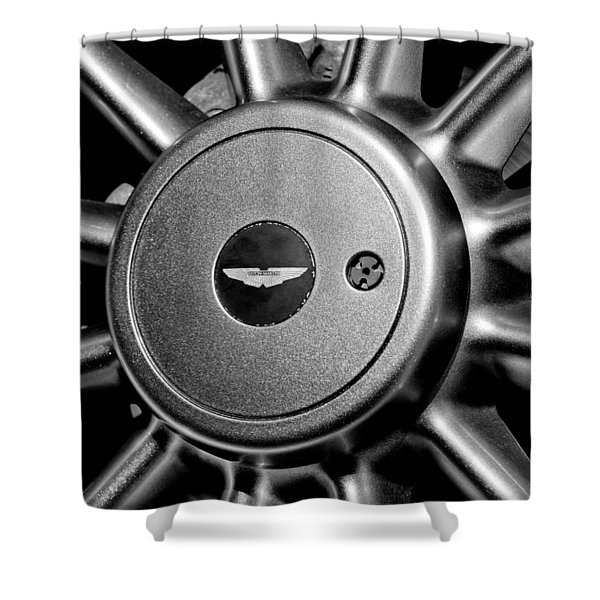Aston Martin Db7 Wheel Emblem Shower Curtain