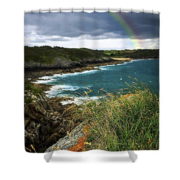 Atlantic Coast In Brittany Shower Curtain