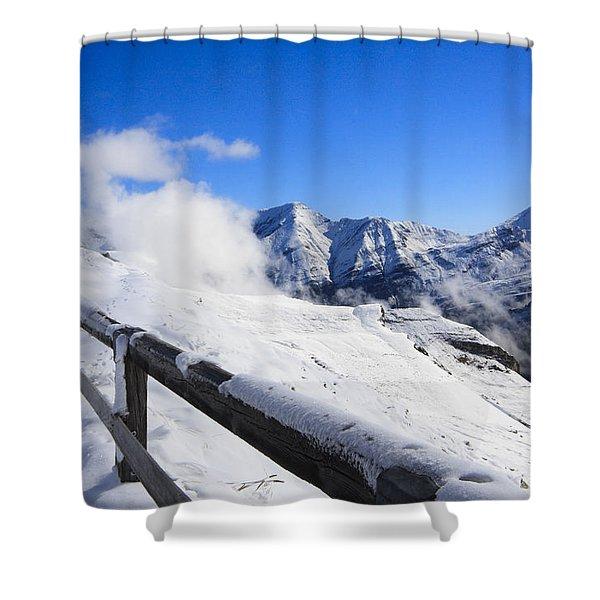 Austrian Mountains Shower Curtain