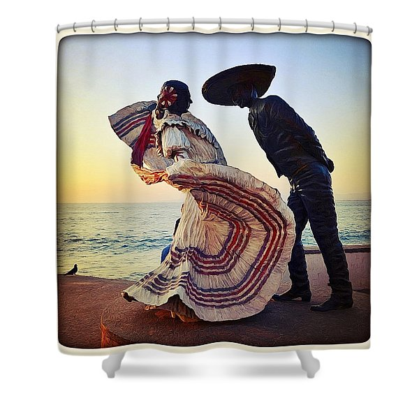 'bailarines De Vallarta' By Jim Demetro Shower Curtain