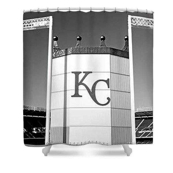 Baseball Stadium, Kauffman Stadium Shower Curtain