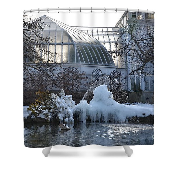 Belle Isle Conservatory Pond 2 Shower Curtain