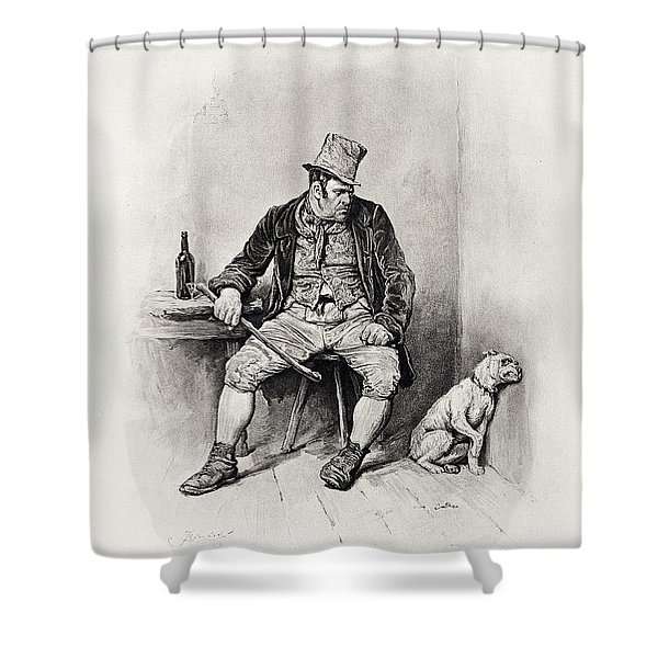 Bill Sykes And His Dog, From Charles Shower Curtain