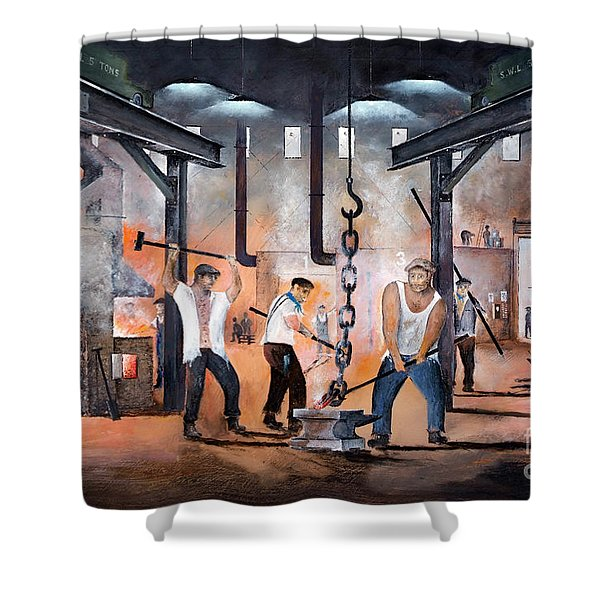 Shower Curtain featuring the painting Black Country Heritage by Ken Wood
