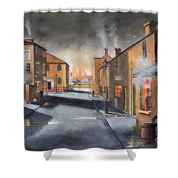 Black Country Village From The Boat Yard Shower Curtain
