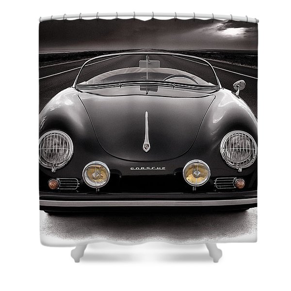 Black Porsche Speedster Shower Curtain