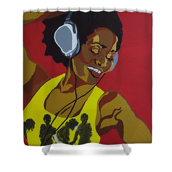 Blame It On The Boogie Shower Curtain