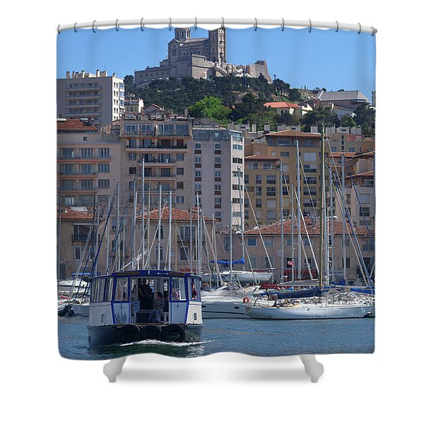 Boats At Old Port, Marseille Shower Curtain