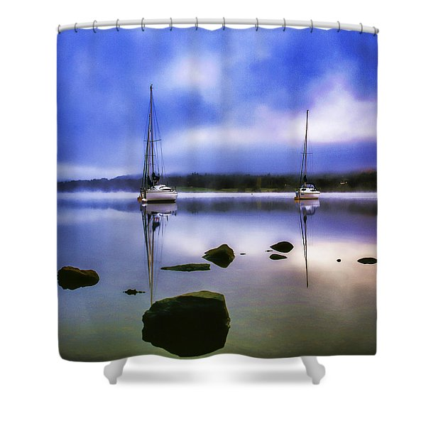 Boats On Ullswater Shower Curtain