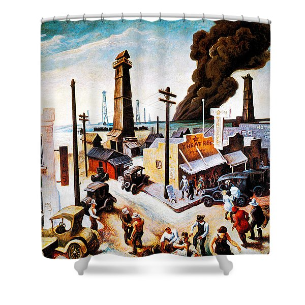 Boomtown Shower Curtain