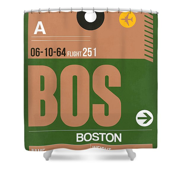 Boston Luggage Poster 1 Shower Curtain