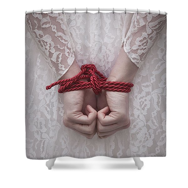 Bound Bride Shower Curtain