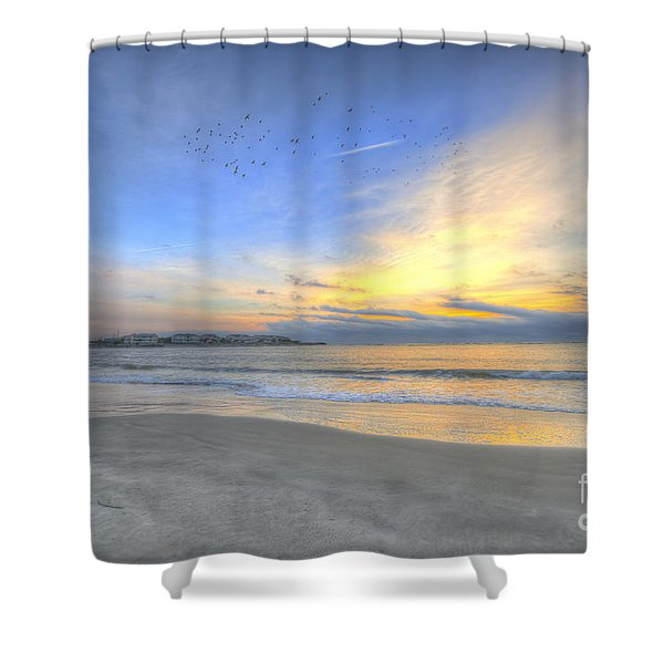 Breach Inlet Sunrise Shower Curtain