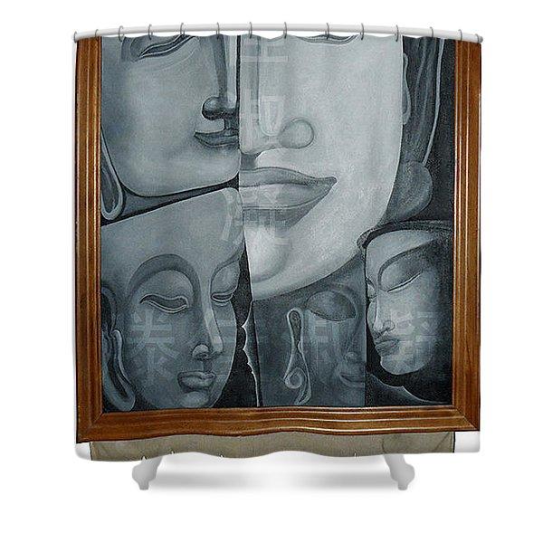 Buddish Facial Reactions Shower Curtain