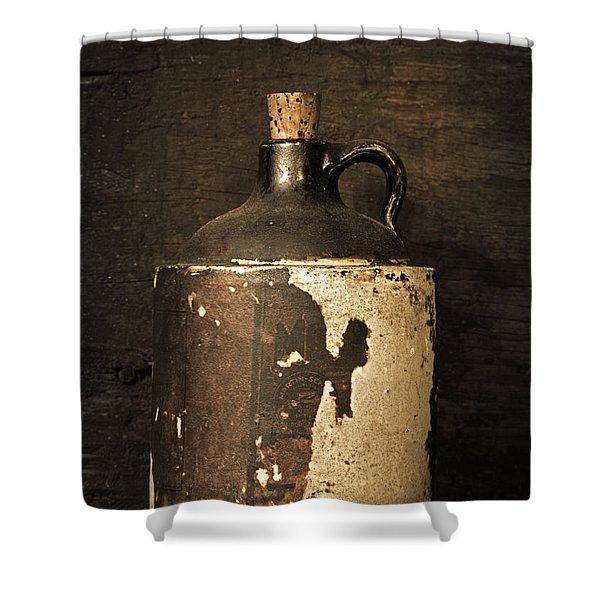 Buddy Bear's Little Brown Jug Shower Curtain
