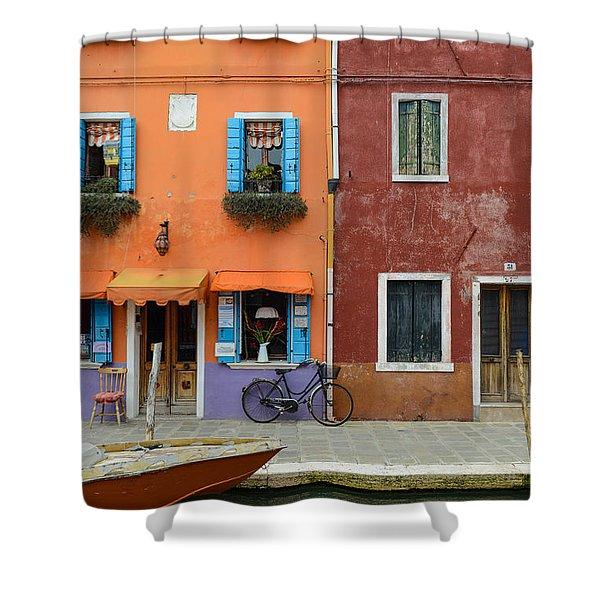 Burano Italy Shower Curtain