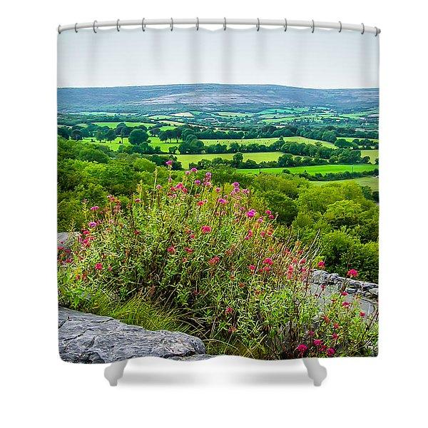 Burren National Park's Lovely Vistas Shower Curtain