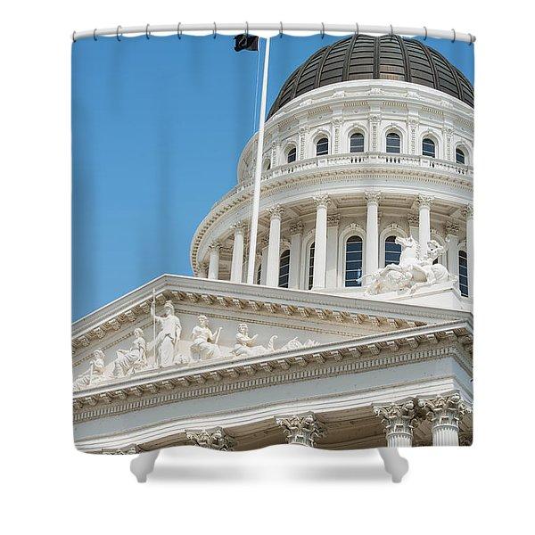 California State Capitol In Sacramento Shower Curtain