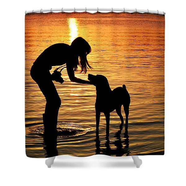 Call And Answer Shower Curtain