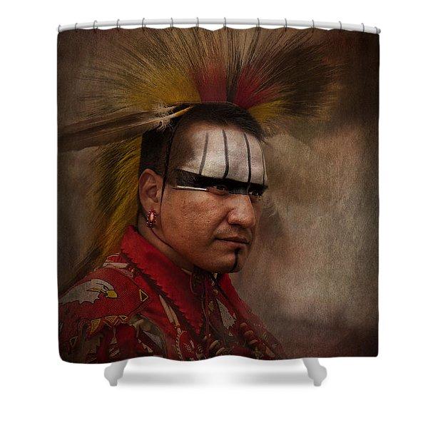 Canadian Aboriginal Man Shower Curtain
