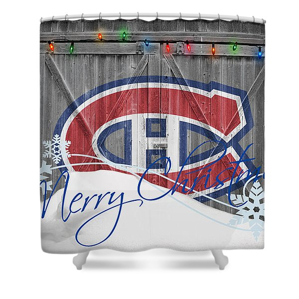 Canadiens Shower Curtain