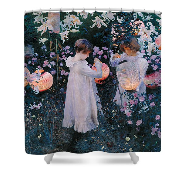 Carnation Lily Lily Rose Shower Curtain