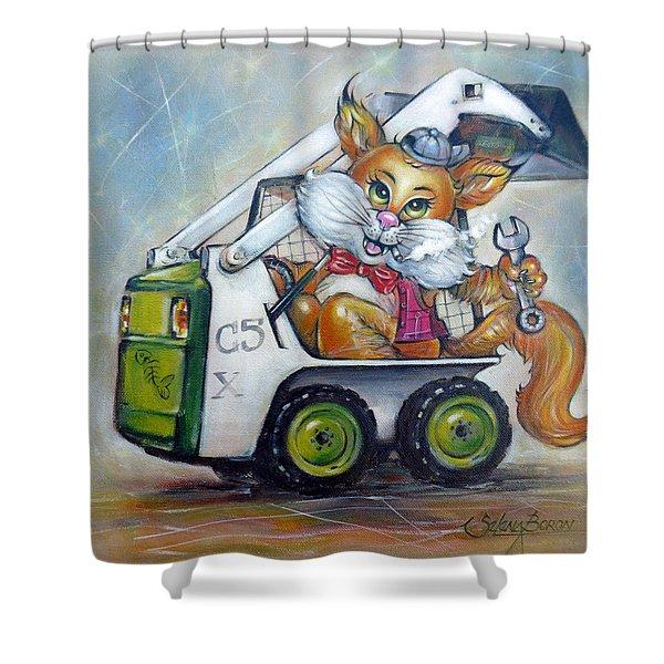 Cat C5x 190312 Shower Curtain