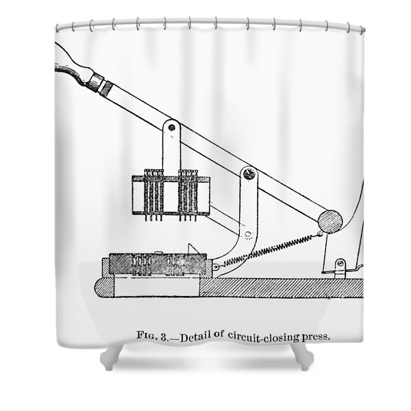 Census Tabulator, 1890 Shower Curtain