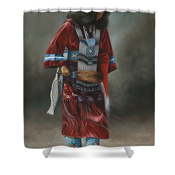 Ceremonial Red Shower Curtain