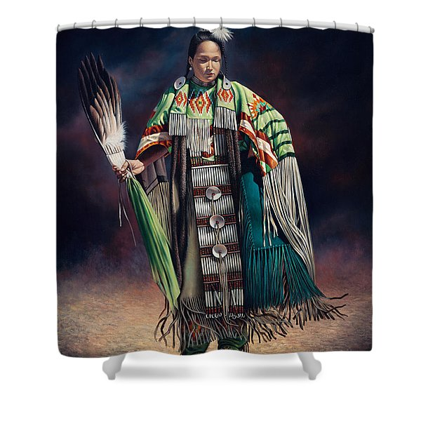 Ceremonial Rhythm Shower Curtain