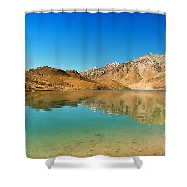 Chandratal Lake Shower Curtain