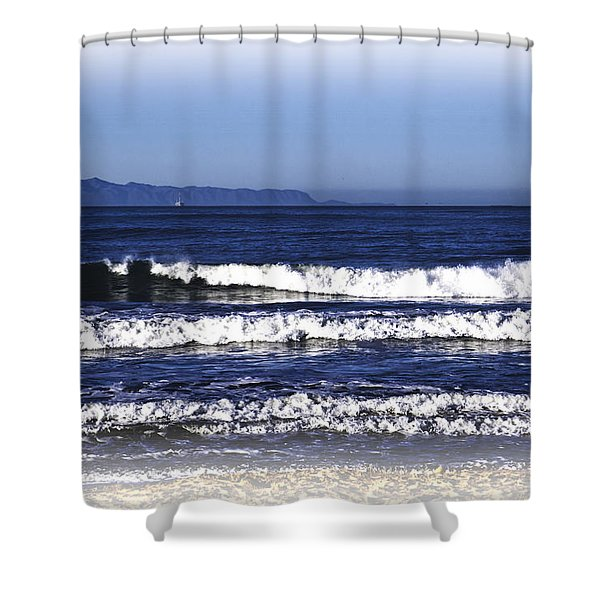 Channel Islands View Shower Curtain